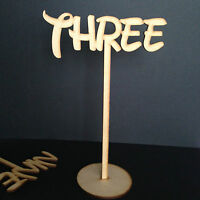 Freestanding Disney Wooden Table Numbers Balloon Weights - Wedding - Craft MDF