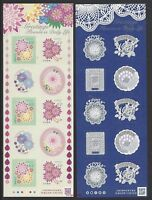 JAPAN 2017 Greeting Flowers in Daily Life Sticker x 2 Mini S/S Stamps