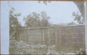 Wine/Grape-Stomping Barrels in Field 1910 AZO Realphoto Postcard - Vineyard