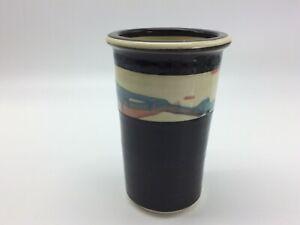 Rare Croyle Pottery Vase~Watercolor Band & Dark Glazing~Beautiful