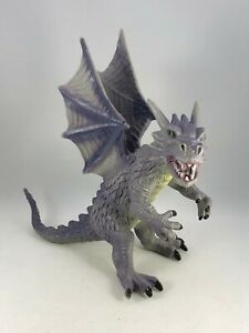 "Vintage Kitsch Retro Dragon Dinosaur Monster Plastic Toy Figurine 8"" Tall"