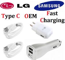 Original Fast Charging Wall Car Charger Type C For LG G7 G8 Stylo 4 V20 V30 V40