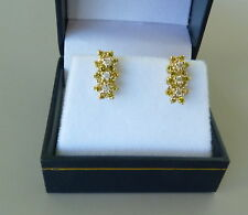 14K YELLOW GOLD EARRINGS WITH WHITE AND YELLOW DIAMONDS 0.52 TCW