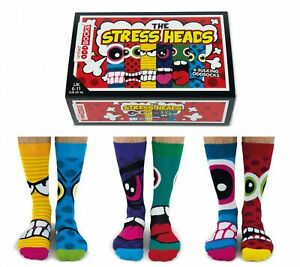 United Oddsocks Stress Heads Novelty Mens Socks - Fathers Day Novelty Gift