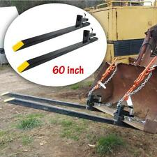 60'' HD Large Capacity Clamp on Pallet Forks Loader Bucket Skid Steer Tractor US