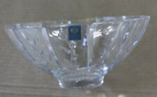"Beautiful Carl Faberge Crystal Glass Bowl Dish 9.5"" Stems w/ Leaves Germany Rare"