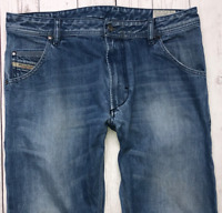 Mens DIESEL Krooley Jeans W34 L32 Light Blue Regular Slim Carrot Wash 0888B