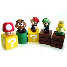 "Lot 5 pcs Super Mario Bros Mini Action Figure PVC Doll Toy 2"" Goomba Luigi Koopa"