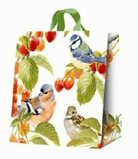 Summer Birds Shopping Bag PVC Tote Blue Tit Chaffinch Sparrow
