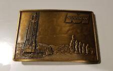 Vintage Marion Oil Field Drilling Belt Buckle     D1
