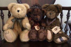 BOYDS TEDDY BEAR BUNDLE STERLING 25TH ANNIVERSARY BEARSDALE BENNNINGTON BRUIN
