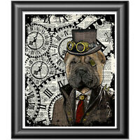 Shar Pei Steampunk Dog Vintage Dictionary Page Print Sharpei Wall Art Picture