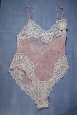 Vintage Oscar de la Renta 10615 Shear Teddy Size 36 in Pink Floral Print No Tags