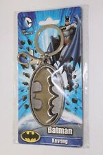 DC Comics Batman Metal Logo Emblem Monogram Keychain Key Chain NEW