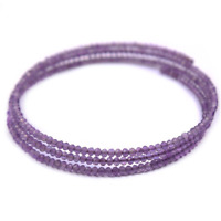Natural Amethyst and Terahertz Bracelet Gemstone Beaded Bracelet Purple and Grey multi layer Adjustable Bracelet