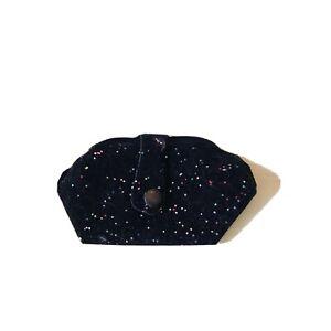 "Vintage Doll Bag Glitter Black Felt Purse Handbag Fits 18-22"" Cissy Revlon"