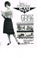PUBLICITE ADVERTISING  1963   SAM   meubles