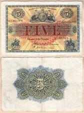 1946 £5 Union Bank of Scotland Large Issued Note. Fine+