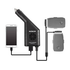 DJI Mavic 2 Zoom Pro Car Charger Adapter for 2 Battery + 1 RC Controller USB UK