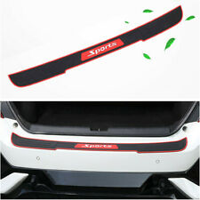 90cm Car Rear Bumper Sill Protector Plate Rubber Cover Guard Pad Moulding Trim