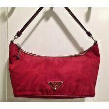 PRADA Leather-Trimmed Tessuto Hobo Handbag