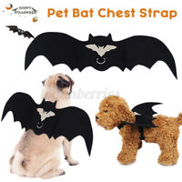 Pet Bat Halloween Costume Vampire Dress Adjust Strap For Dog Cat Animal