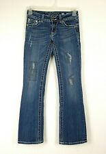 Miss Me Women's Jeans Bootcut Distressed Flap Pockets Size 27 Measures 27x30