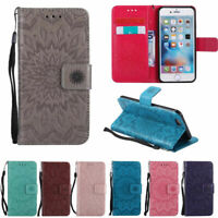 Magnetic Embossed Wallet Flip PU Stand Case Cover For Android Cell Mobile Phone
