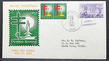 US Christmas Greetings Cover FDC Santa Claus Boys 3c USA Ersttagsbrief (H-7811