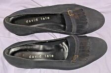 7M Navy Blue Low Heel Suede Ballet Slip On Shoes Loafers Ladies David Tate Fancy