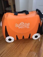 Melissa & Doug Trunki Tipu Tiger Kids Ride-On Suitcase Carry-On Luggage Orange