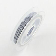 10m Bobine Fil Acier 0.4mm Couleurs Blanc pour creation bijoux, Tiger Tail