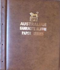 AUSTRALIAN DECIMAL PAPER BANKNOTE ALBUM BROWN Colour - 1966 to Present