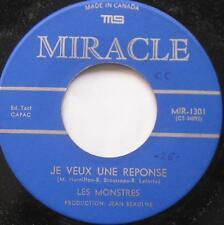 **LES MONSTRES (MARC HAMILTON) Je veux une... NM- FRENCH GARAGE Canada 45