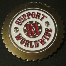 Pin Badge 81 Biker Present Support Angels Nomads Hells Wheel MC Vest Jacket Gift
