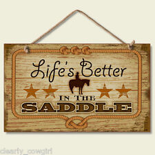 #8519 - HIGHLAND GRAPHICS WESTERN LIFE'S BETTER DECORATIVE WOOD SIGN -WOW!