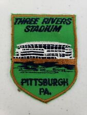Vintage 1970's Voyager Three Rivers Stadium Pittsburgh, PA Embroidered Patch