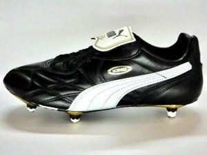 Puma King Pro SG/K-Leder/Stollenschuh/Fußball/Neuware/schwarz/weiß/gold/17011401