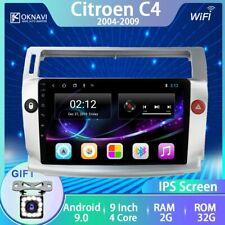 Radio pantalla táctil navegador GPS CITROEN C4 Android 9.0 2004-2009