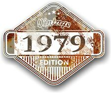 Aged Rusty Rust Patina Year Dated 1979 VINTAGE EDITION Cafe Racer Car Sticker