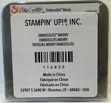 Stampin Up MERRY Sizzix Embosslits NEW Christmas