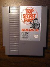 Golgo 13 Top Secret Episode Nintendo NES Game Authentic Original