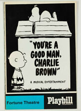 More details for 1968 you're a good man charlie brown playbill programme fortune theatre musical