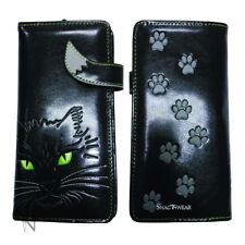 NEMESIS LUCKY KITTY BLACK CAT VEGAN PURSE WALLET NEMESIS NEW PAGAN WITCH GIFT