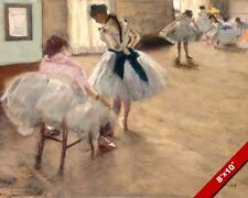 THE BALET LESSON EDGAR DEGAS PAINTING BALLERINA DANCE ART REAL CANVAS PRINT