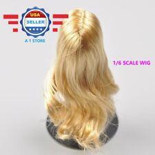 KUMIK 1/6 scale BLONDE Hair Wig for 12'' Female Figure Doll