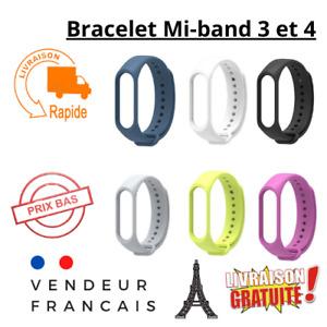 Bracelet de montre Xiaomi compatible original Mi Band 3 et Xiaomi Mi Band 4