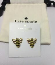 KATE SPADE Picnic Perfect Pave Bee Stud Earrings w/ KS Dust Bag New
