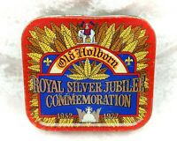 Vintage Old Holborn Queen Elizabeth II Royal Souvenir Silver Jubilee Tobacco Tin