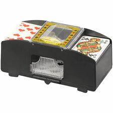GSR Elektrische Kartenmisch-Maschine für 2 Decks á 54 Karten, schwarz